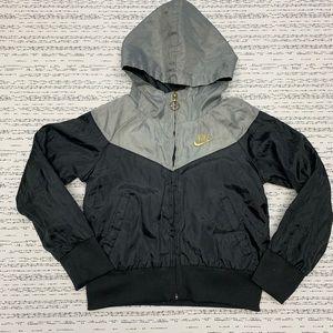 Nike Full Zip Hooded Windbreaker Jacket